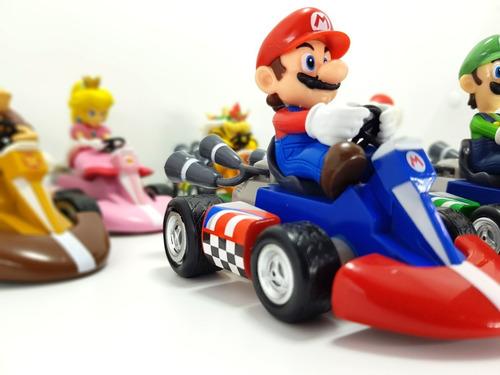 mario kart bros colección carros impulso 7 figuras nintendo