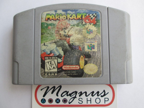 mario kart para nintendo 64 n64 original guardando clasico