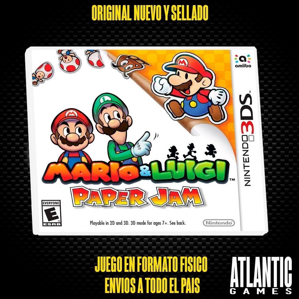 Mario Luigi Paper Jam Nintendo 3ds Fisico Sellado 2 699