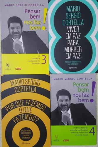 mário sérgio cortella - kit 4 livros + brinde + frete grátis