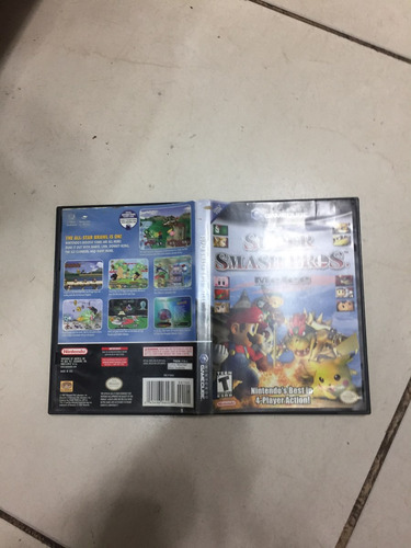 mario smash bross gamecube original,sem manual,cd bom estado