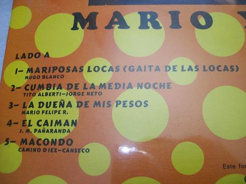 mario y sus latinos. mariposas locas. disco l.p. sellado