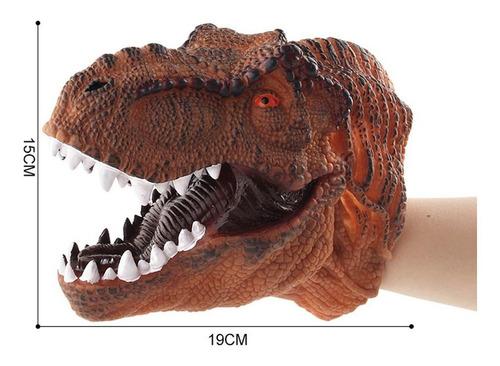 marioneta de mano de dinosaurio juguete interactivo cabeza d