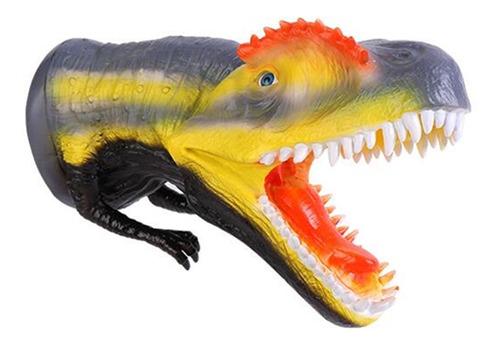 marioneta de mano de dinosaurio realista detalles del museo