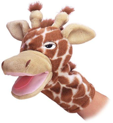 marioneta de mano de peluche jirafa aurora world jolie 10