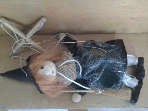 marioneta títere bruja brujita buen acabado gran oferta 15 v