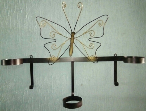 mariposa, base colgante para tres macetas