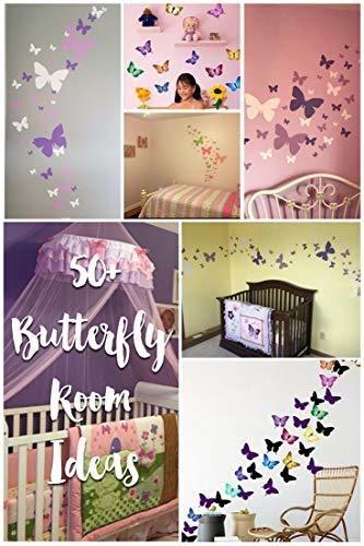 Mariposa Pared Decals Soft Pink L Stick Wall Liques Par