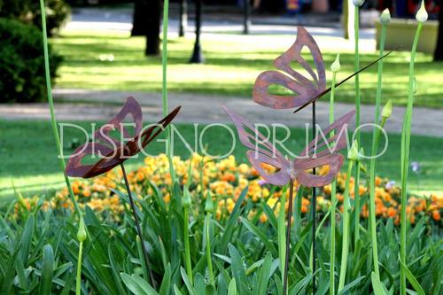 mariposa tutor pinche jardín de hierro oxidado calada grande