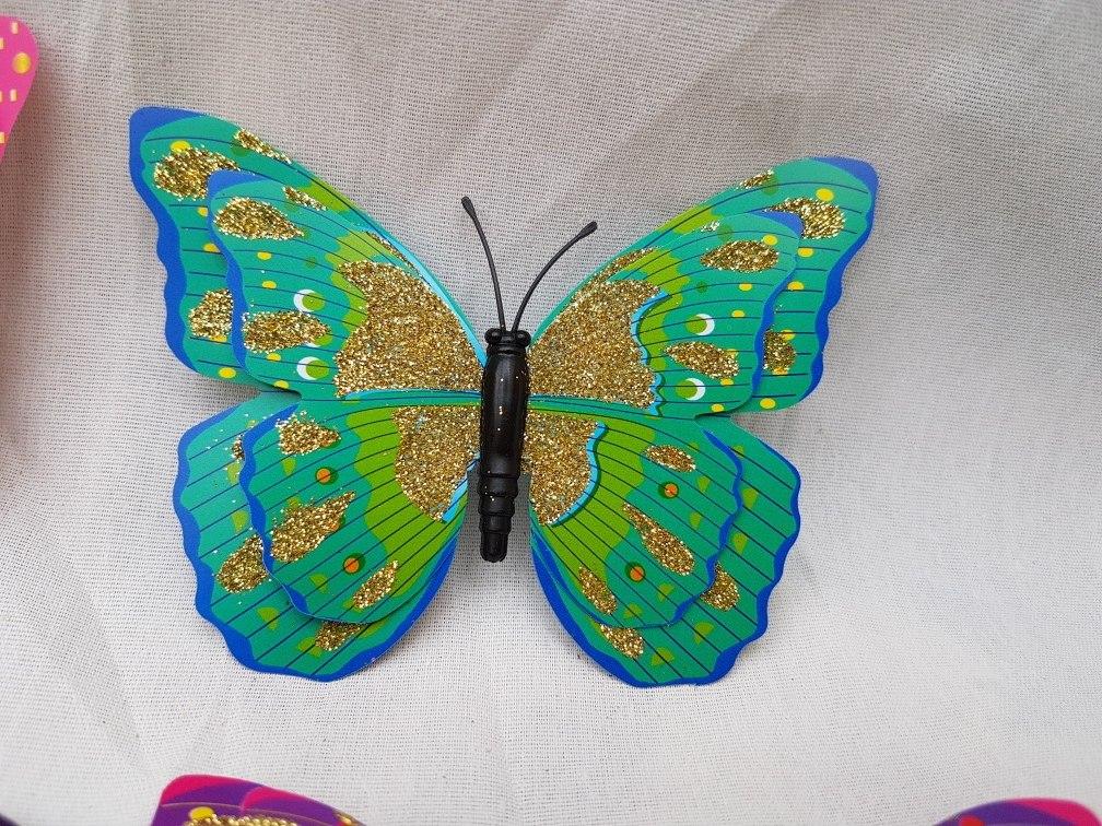 Mariposas 3d Con Imán Con Brillos Diseño Y Decoración - $ 14,99 en ...