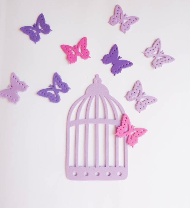 Mariposas cartulina decoracion tarjetas souvenir 50 - Mariposas decoracion pared ...