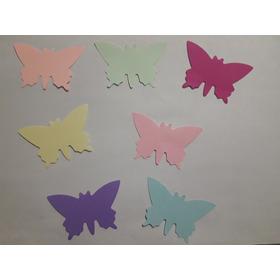 Mariposas De Papel Color Mate X 100u ( De 6,8 Cm)