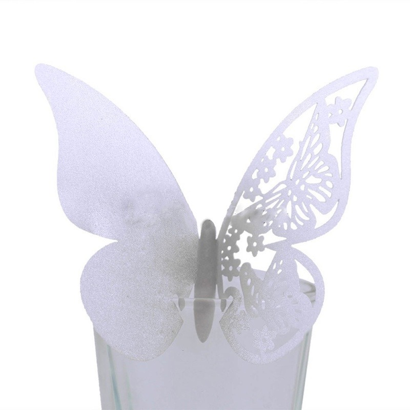 Mariposas de papel para decoraci n copas en for Mariposas de decoracion para pared