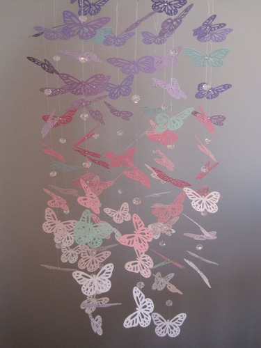 Mariposas decoración pared dormitorio, cartulina, papel x 40 ...