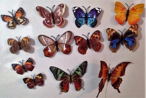 mariposas decorativas 3d set 12, hogar muro/refrigerador