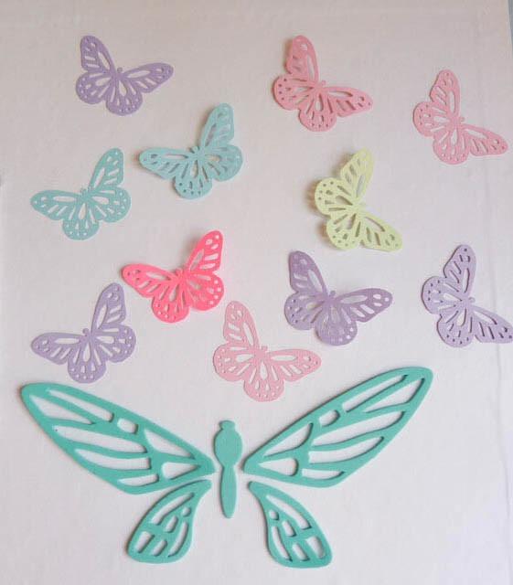 Mariposas formas cartulina decoracion 35 unidads tarjetas 250 00 en mercado libre - Mariposas para decorar ...