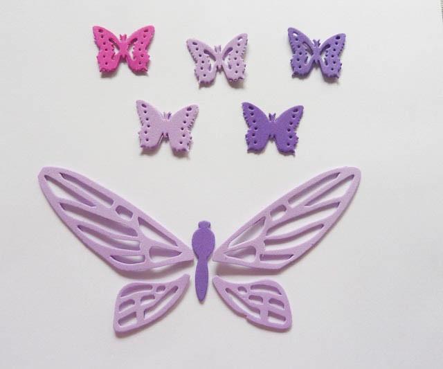 Mariposas grandes formas en goma eva decoracion 10 - Formas goma eva ...