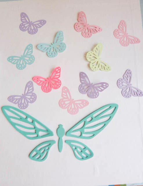 Mariposas grandes formas en goma eva decoracion 10 unidades ...