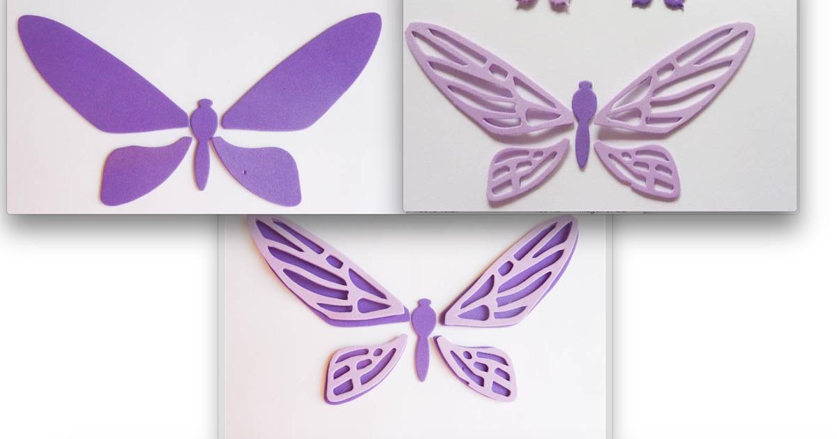 Mariposas Grandes Formas En Goma Eva Decoracion 10 Unidades - $ 220 ...