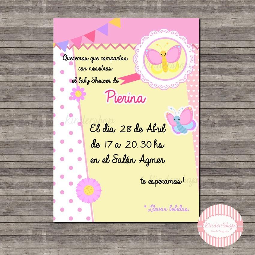 Mariposas Invitación Tarjeta Digital Imprimible Whatsapp