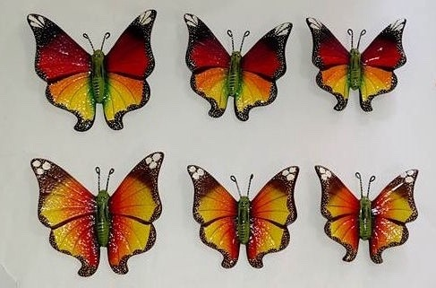 Mariposas monarca colgante de pared ceramica decoracion - Mariposas decoracion pared ...