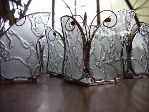 mariposas posavelas vitraux souvenirs