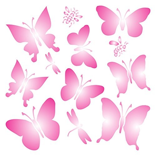 Mariposas Stencil Tamaño 7 X 7 H Plantillas Reutilizables P