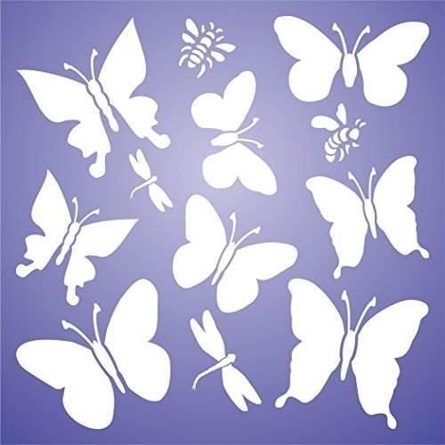 Mariposas Stencil Tamaño 9 X 9 H Plantillas Reutilizable