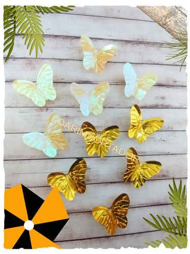 mariposas tornasolada deco invitaciones surtidas x100