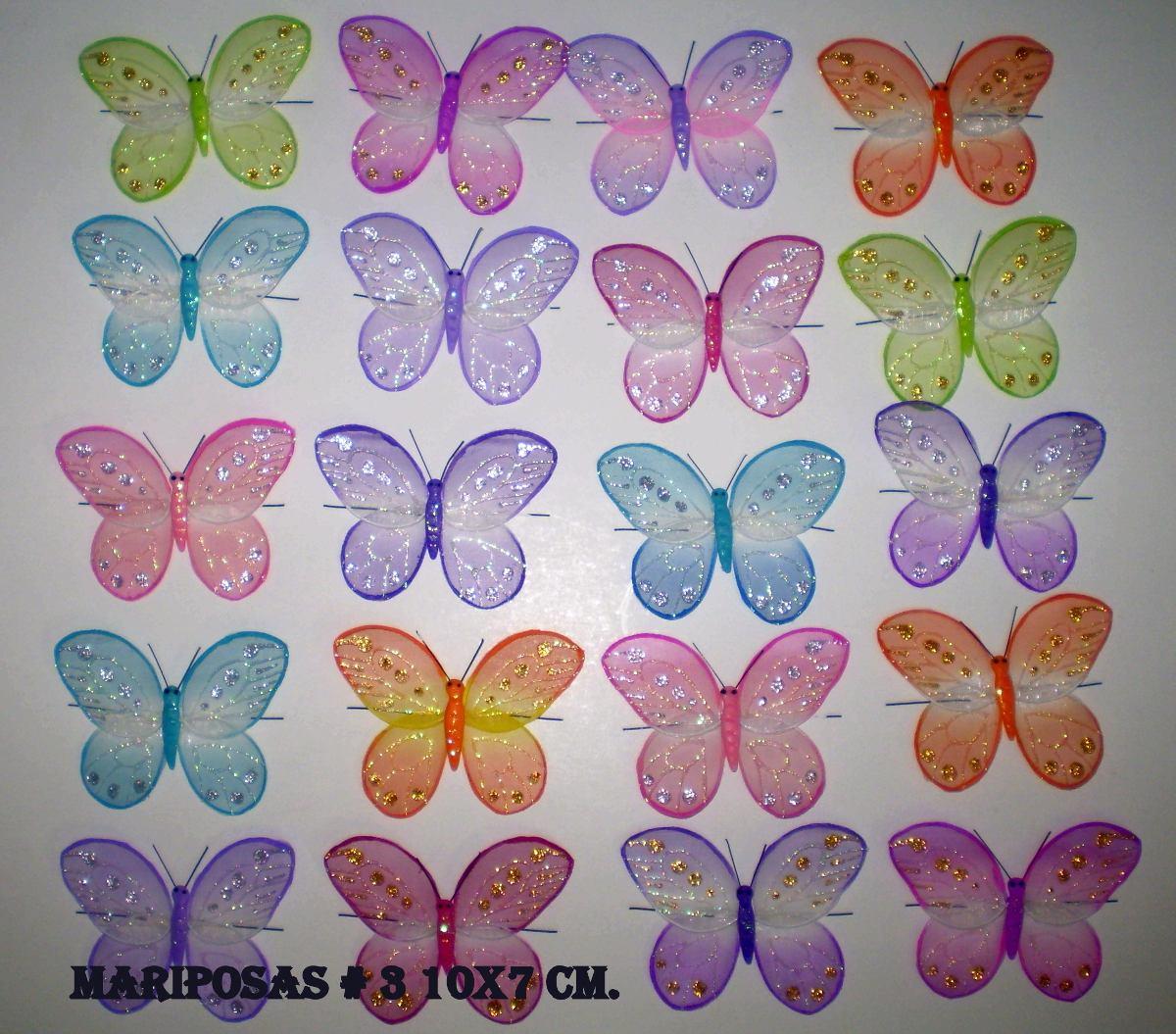 Mariposas y libelulas para decorar de alambre y organza bs en mercado libre - Mariposas para decorar ...