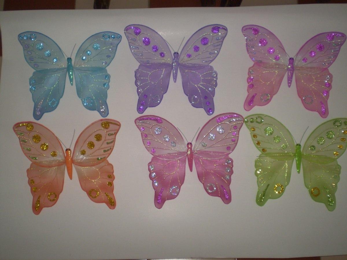 Mariposas y libelulas para decorar de alambre y organza bs 450 00 en mercado libre - Mariposas para decorar ...