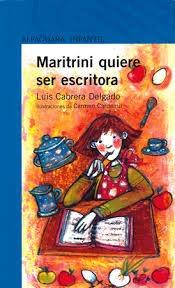 maritrini quiere ser escritora     alfaguara infantil