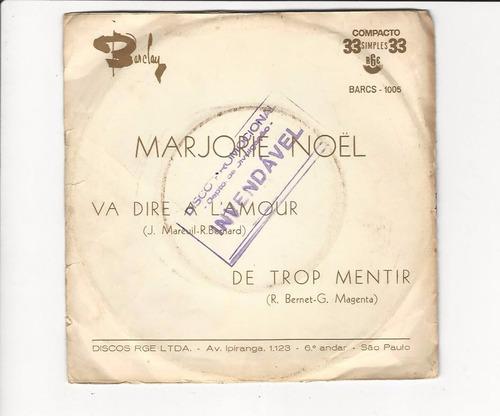 marjorie noel - va dire a l'amour - compacto - ep 77