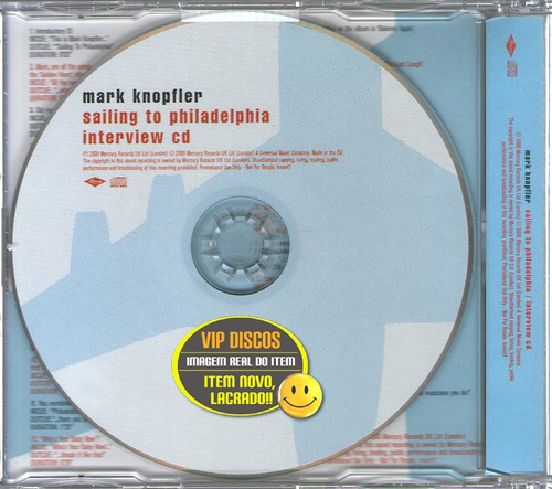 mark knopfler cd entrevista sailing to philadelphia - raro