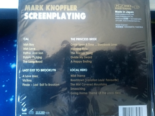 mark knopfler - screenplaying 2013 mastering/hd - limited e.