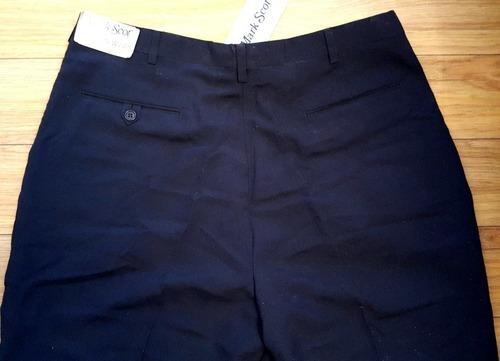 mark scot pantalon de golf de hombre importado azul marino