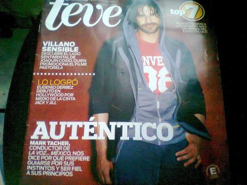 mark tacher en revista teve de noviembre del 2011