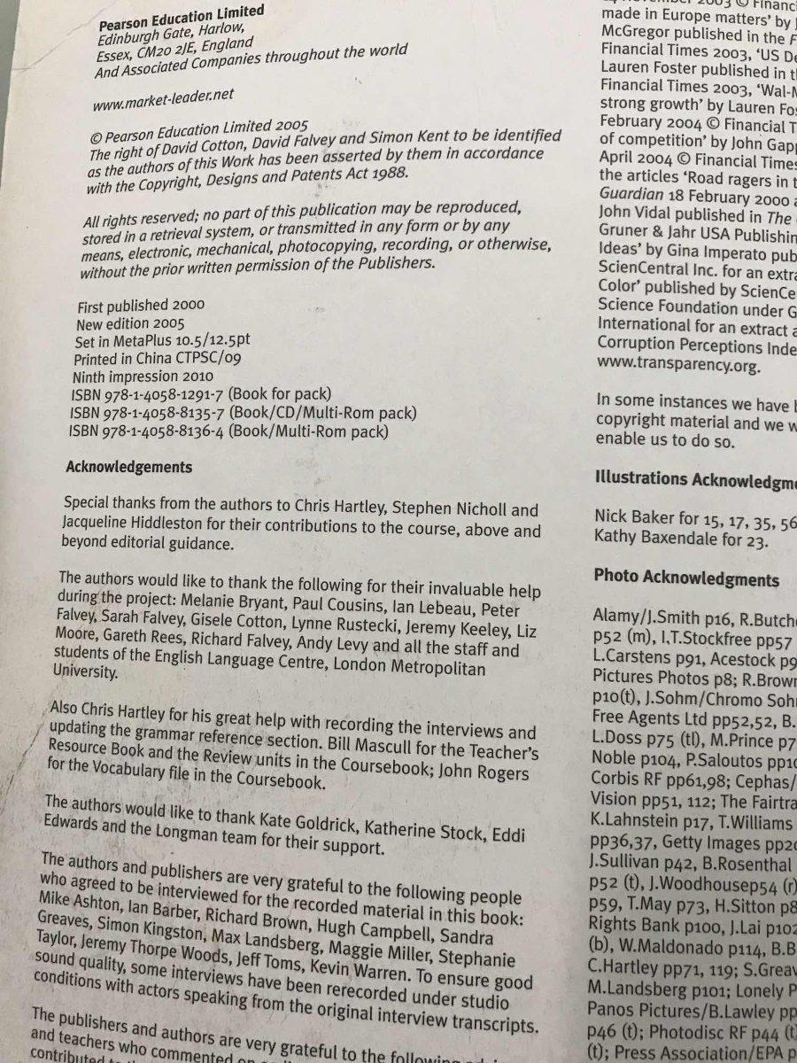 Market Leader Intermediate Student Book