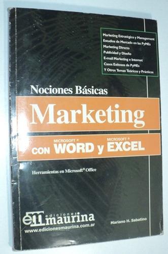 marketing con word y excel nociones básicas año 2003