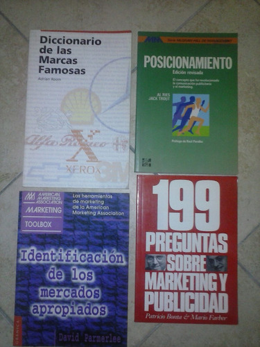marketing - lote de cuatro libros