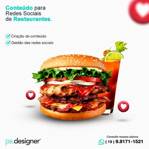 marketing para redes sociais de restaurante