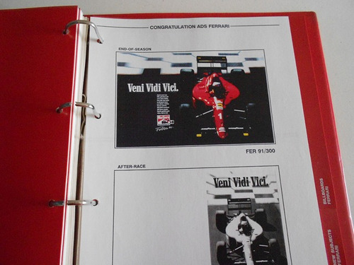 marlboro world championship team, formula i adbook 1991