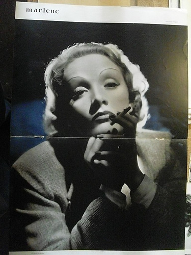marlene dietrich clipping 2 paginas hollywood 40's m25