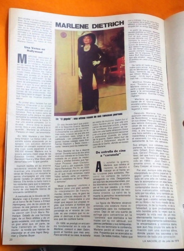 marlene dietrich - los pumas la nacion revista año 1979