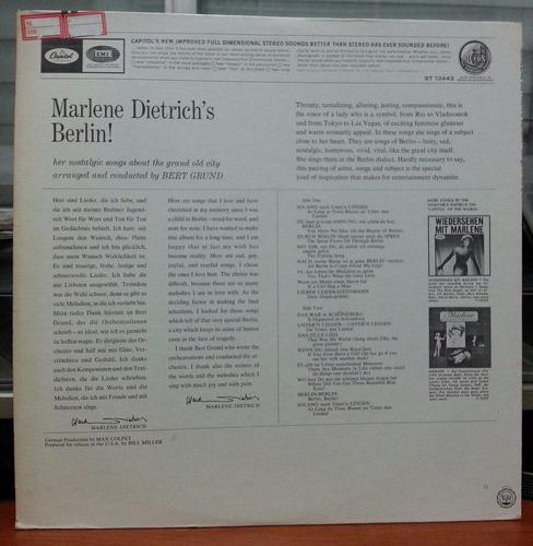 marlene dietrich - marlene dietrich's berlin - (lp import.)