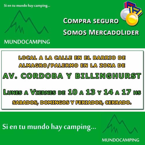 marmita camping 1 persona + set cubiertos + bolsa de rancho