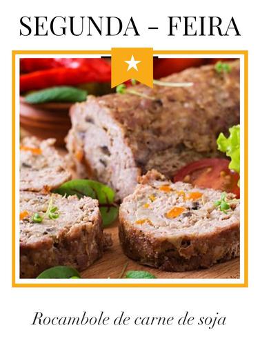 marmita fit - rocambole de carne de soja