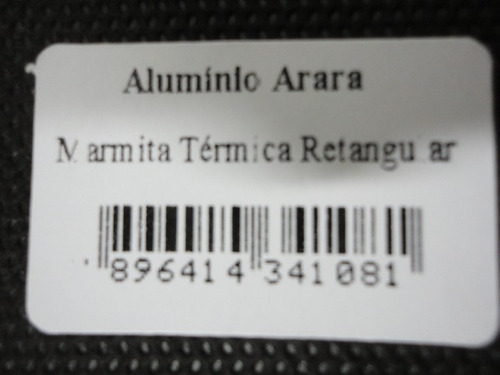 marmita termica  - retangular