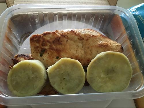 marmitas fitness, monte a sua como quiser frango batata doce