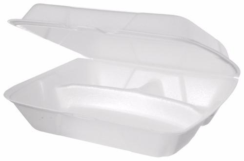 marmitex de isopor bs132 3 divisórias c/ 100 unidades